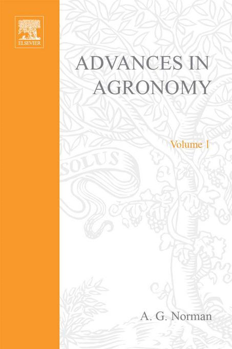 ADVANCES IN AGRONOMY VOLUME 1