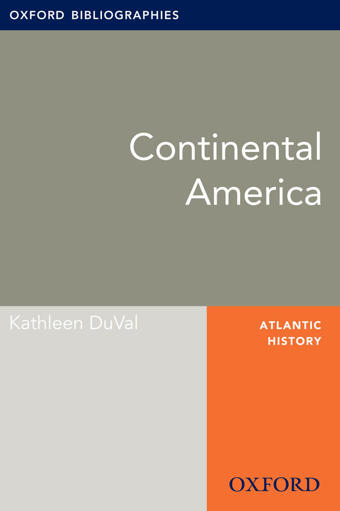 Continental America: Oxford Bibliographies Online Research Guide