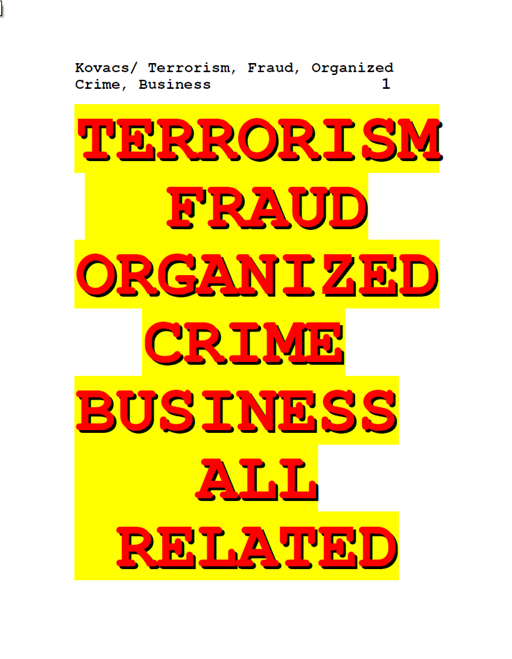 Terrorism Fraud Organized Crime Business