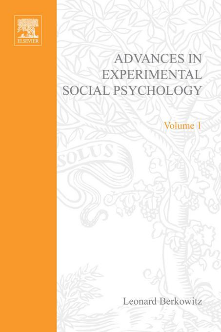 ADV EXPERIMENTAL SOCIAL PSYCHOLOGY,VOL 1