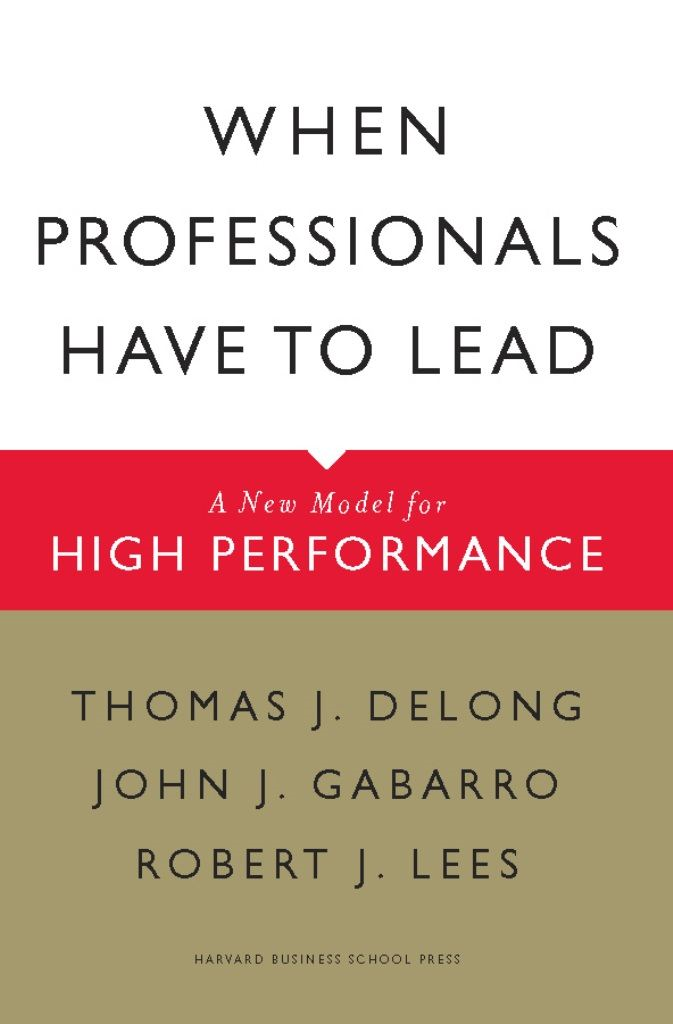 When Professionals Have to Lead