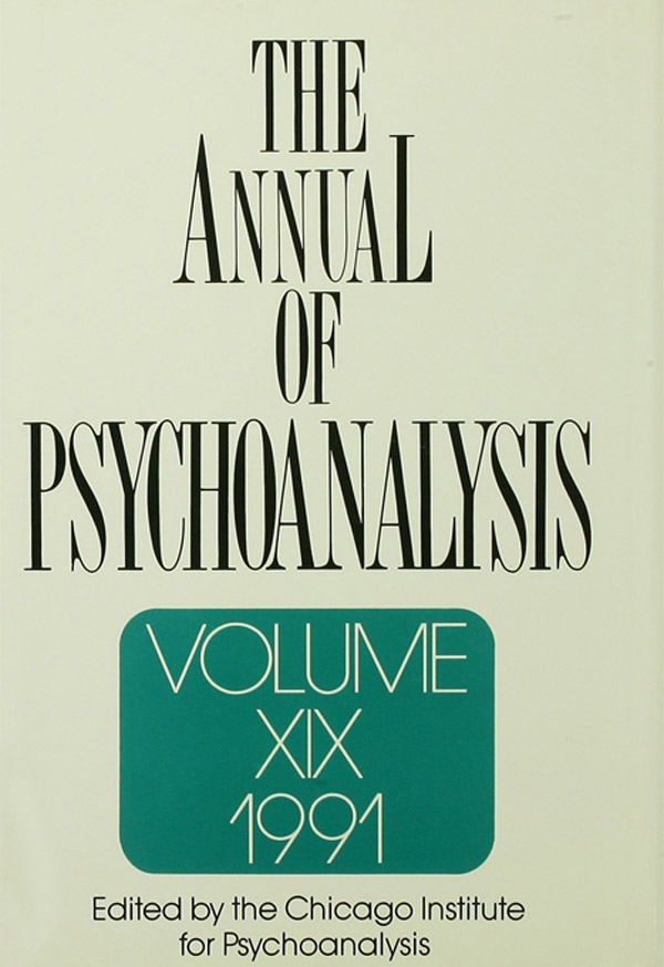 The Annual of Psychoanalysis, V. 19