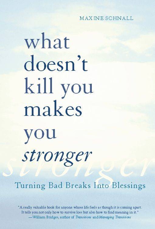 What Doesn't Kill You Makes You Stronger: Turning Bad Breaks Into Blessings By: Maxine Schnall