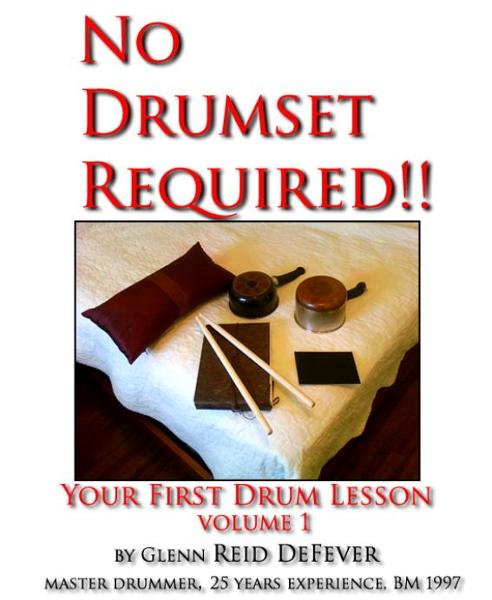 No Drumset Required~Your First Drumset Lessons