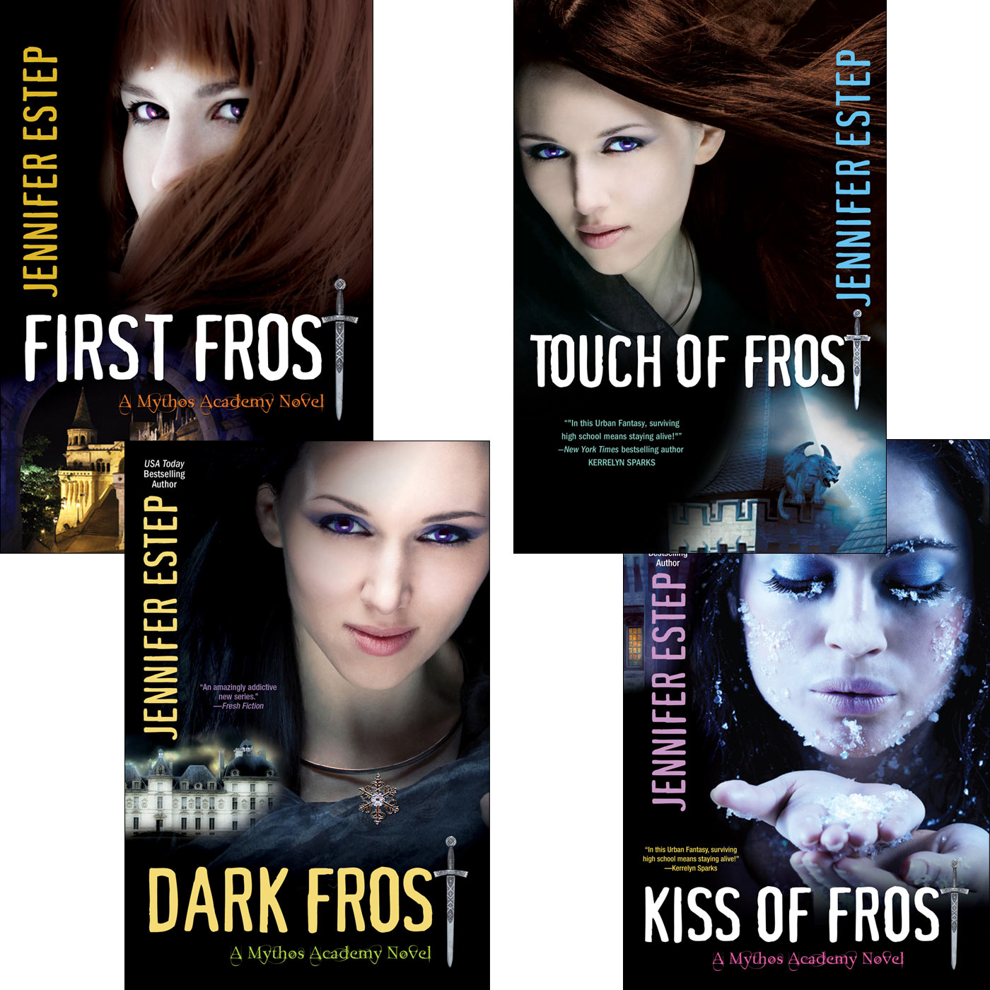 Mythos Academy Bundle: First Frost, Touch of Frost, Kiss of Frost & Dark Frost