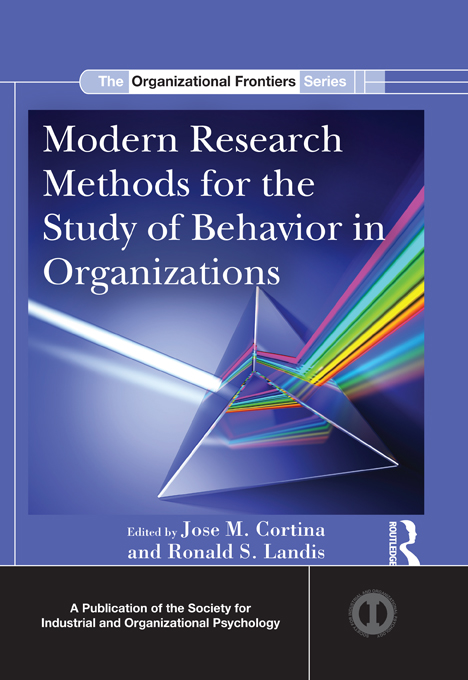 Modern Research Methods for the Study of Behavior in Organizations