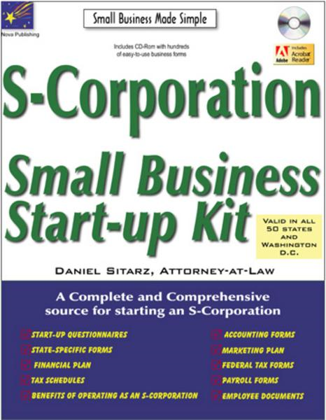 S Corporation: Small Business Start Up K