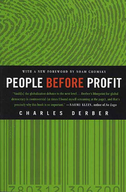 People Before Profit By: Charles Derber