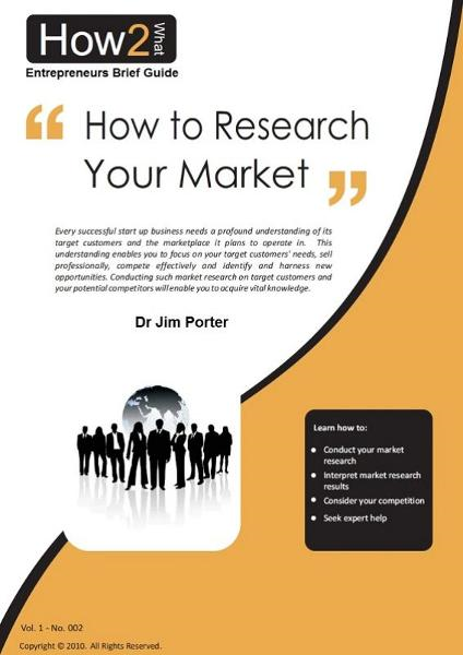 How to Research Your Market By: Dr Jim Porter