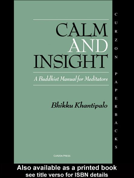 Calm and Insight By: Bhikkhu Phra Khantipalo