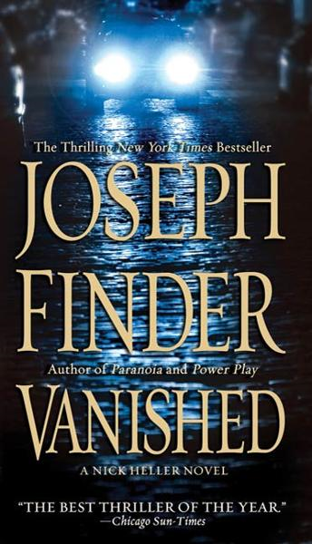 Vanished By: Joseph Finder