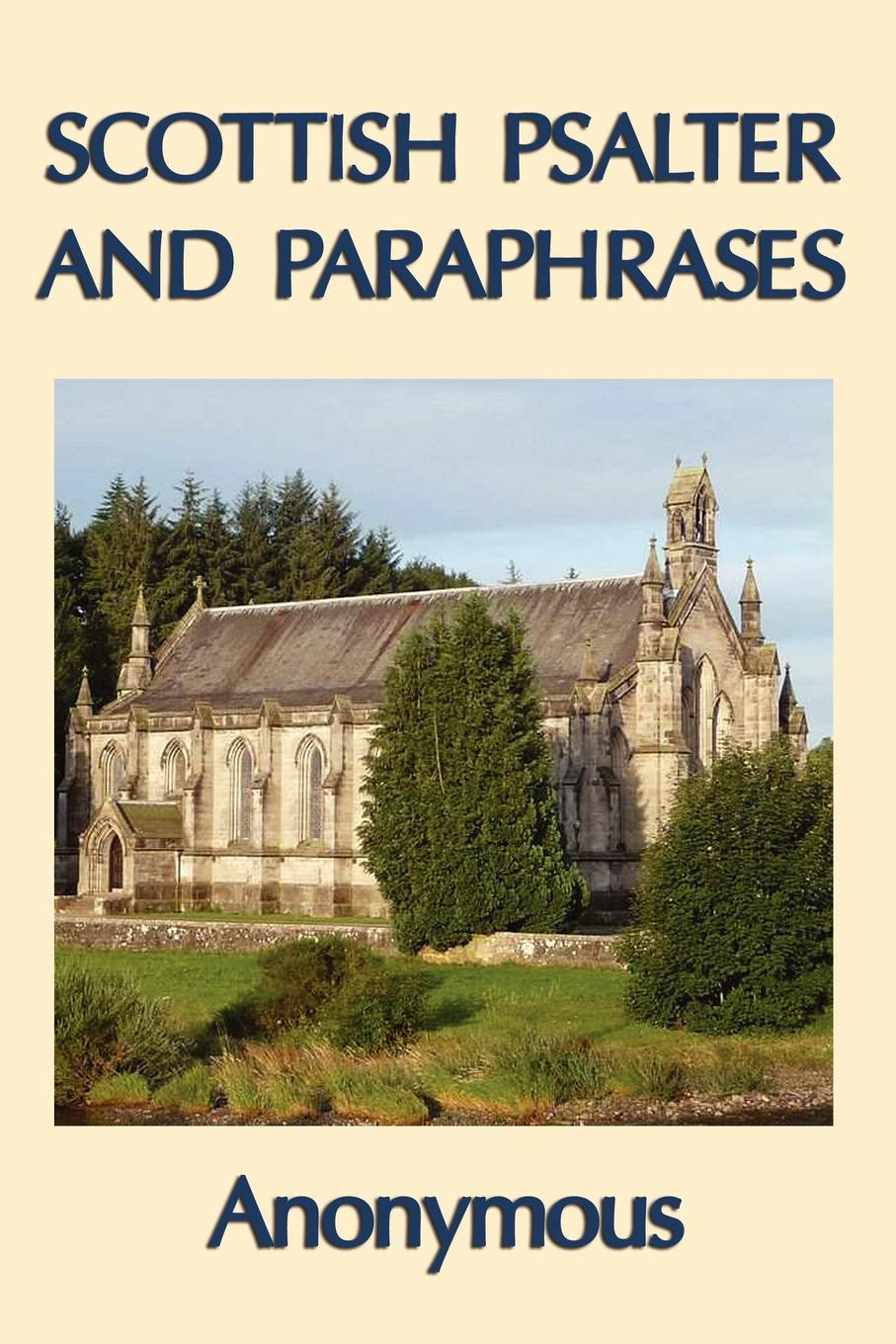 Book Cover: Scottish Psalter and Paraphrases