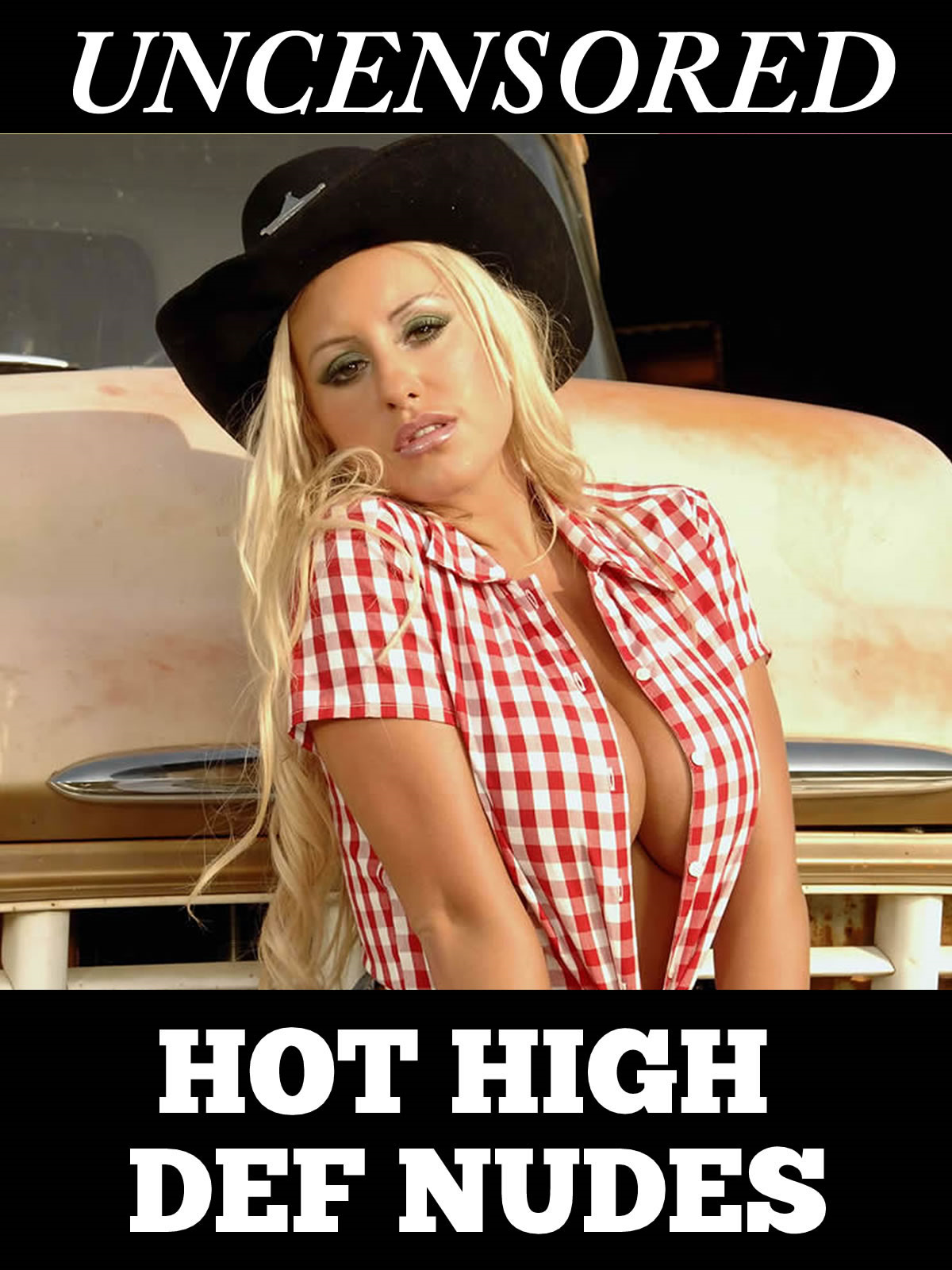 Natali – The Slutty Blonde Cow Girl With Big Tits Poses Fully Nude for the Camera