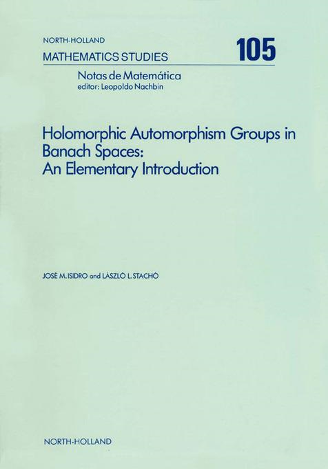 Holomorphic Automorphism Groups in Banach Spaces: An Elementary Introduction