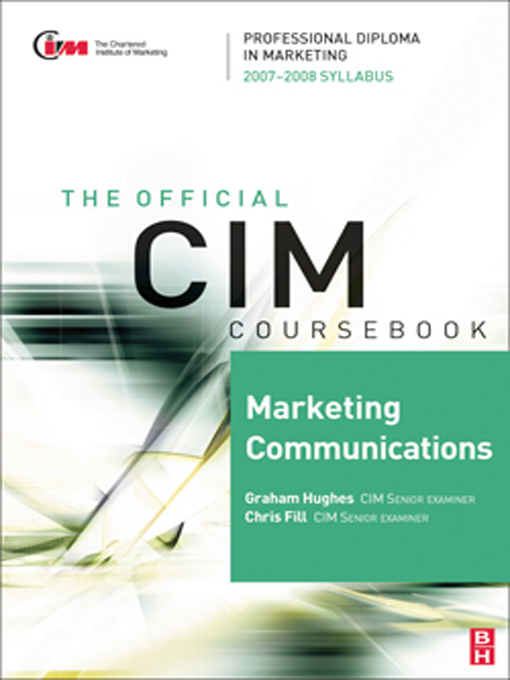 CIM Coursebook Marketing Communications 07/08