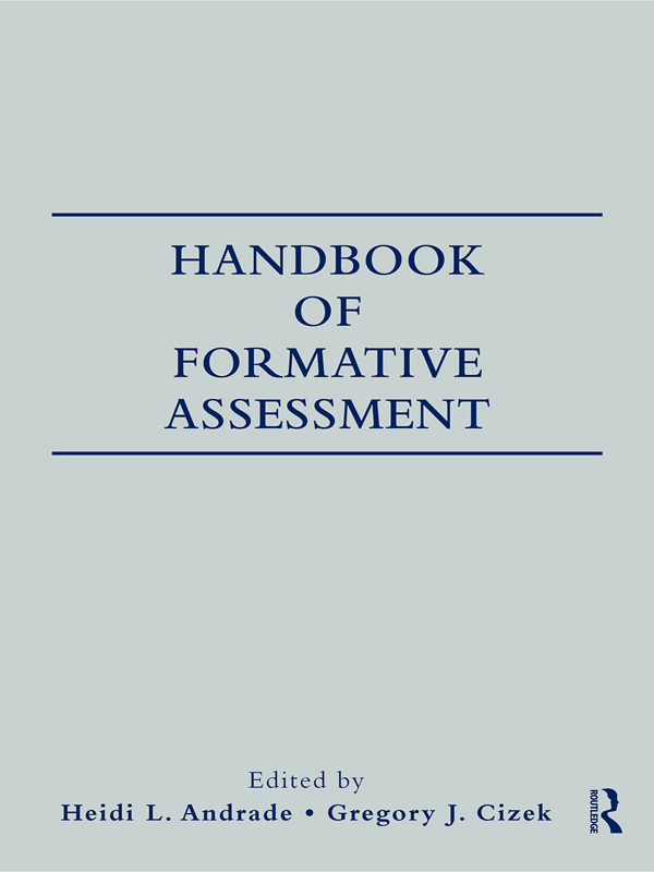 Handbook of Formative Assessment By:
