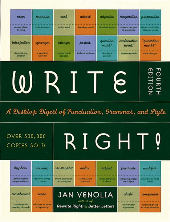Write Right! By: Jan Venolia