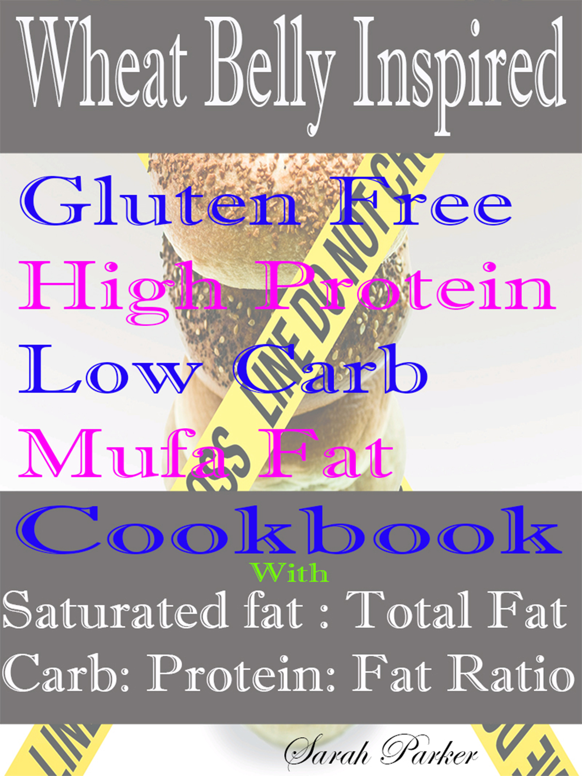 Wheat Belly Inspired Gluten Free High Protein Low Carb Mufa Fat Cookbook With Saturated Fat: Total Fat Carb: Protein: Fat Ratio By: Sarah Parker