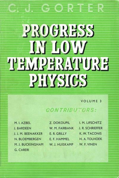 Progress in Low Temperature Physics V3