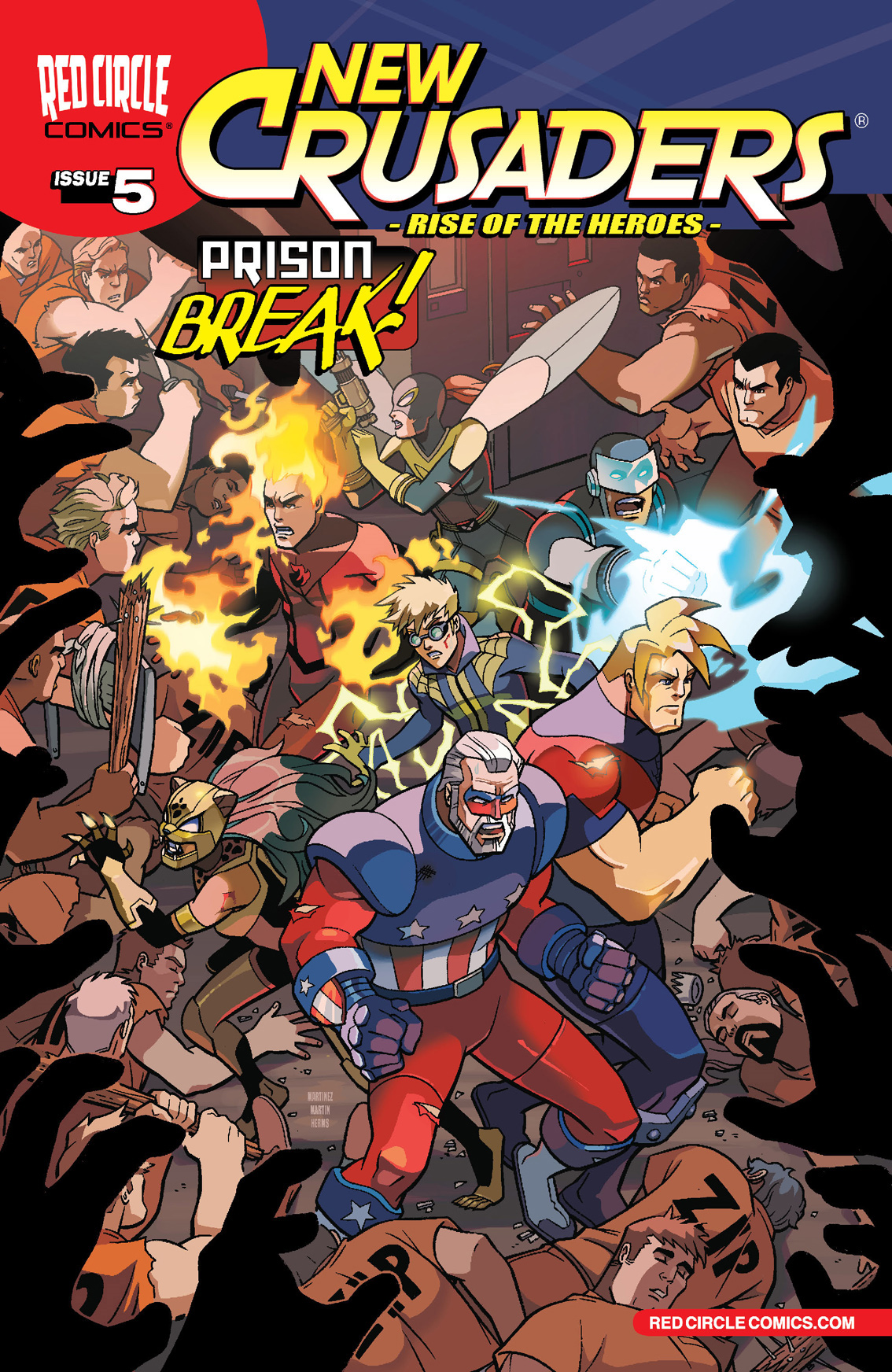New Crusaders: Rise of the Heroes #5 By: Ian Flynn, Alitha Martinez, Gary Martin, Matt Herms, John Workman