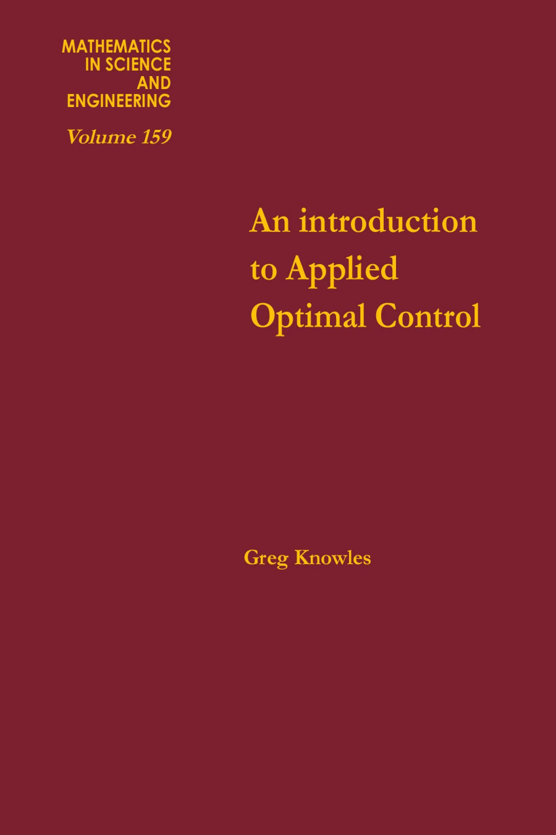 An introduction to applied optimal control