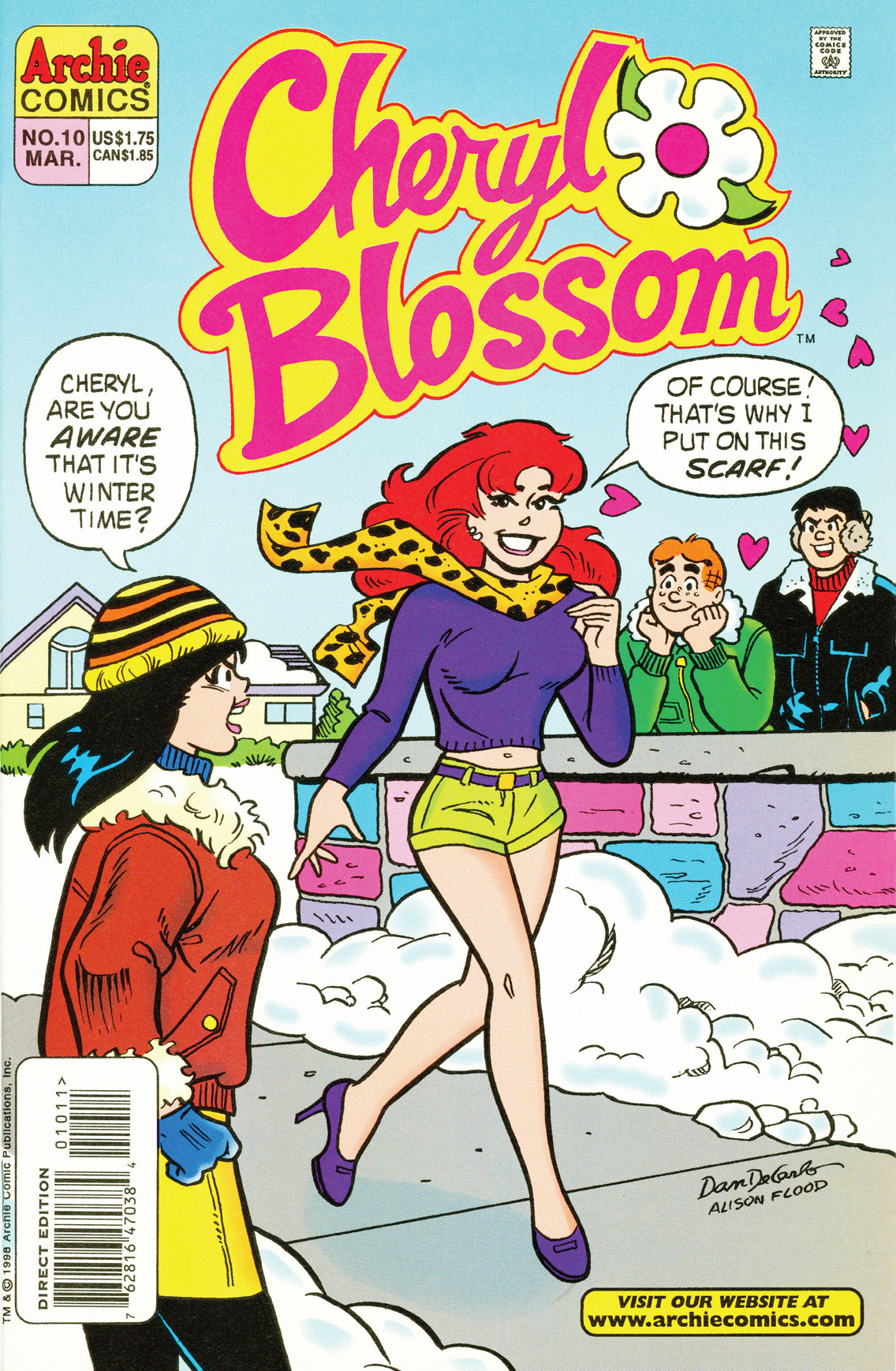 Cheryl Blossom #10 By: Dan Parent, Dan DeCarlo, Jon D'Agostino, Bill Yoshida, Barry Grossman, Alison Flood