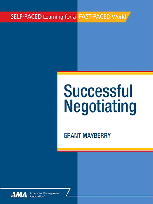 Successful Negotiating: EBook Edition
