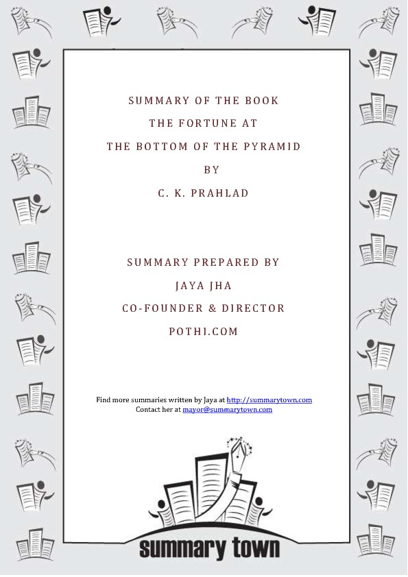 Summary of the book Fortune at the Bottom of the Pyramid by C. K. Prahlad
