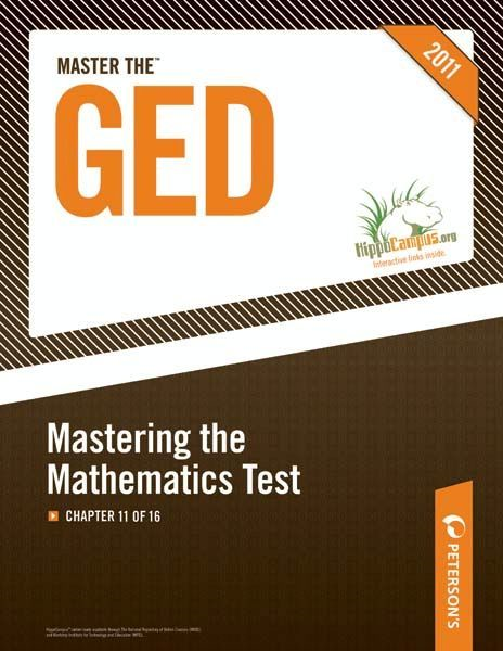 Master the GED: Mastering the Mathematics Test: Chapter 11 of 16 By: Peterson's