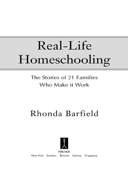 Real-Life Homeschooling By: Rhonda Barfield