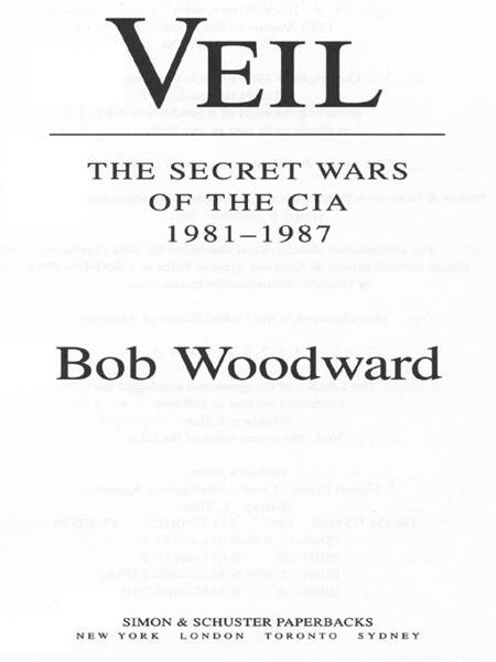 Veil By: Bob Woodward