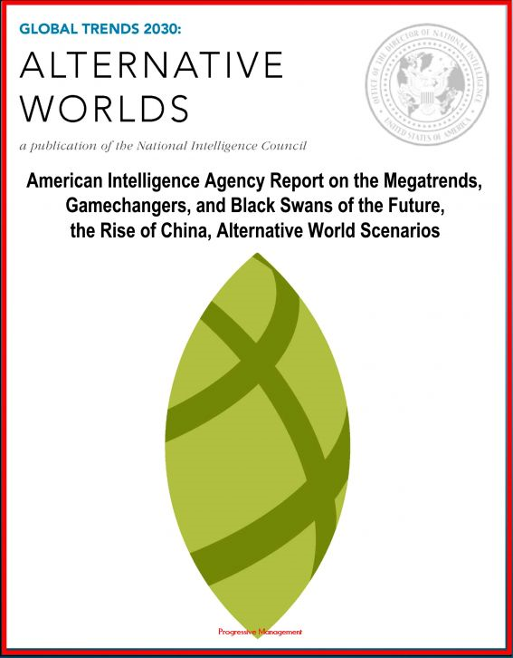 Global Trends 2030: Alternative Worlds - American Intelligence Agency Report on the Megatrends, Gamechangers, and Black Swans of the Future, the Rise of China, Alternative World Scenarios By: Progressive Management