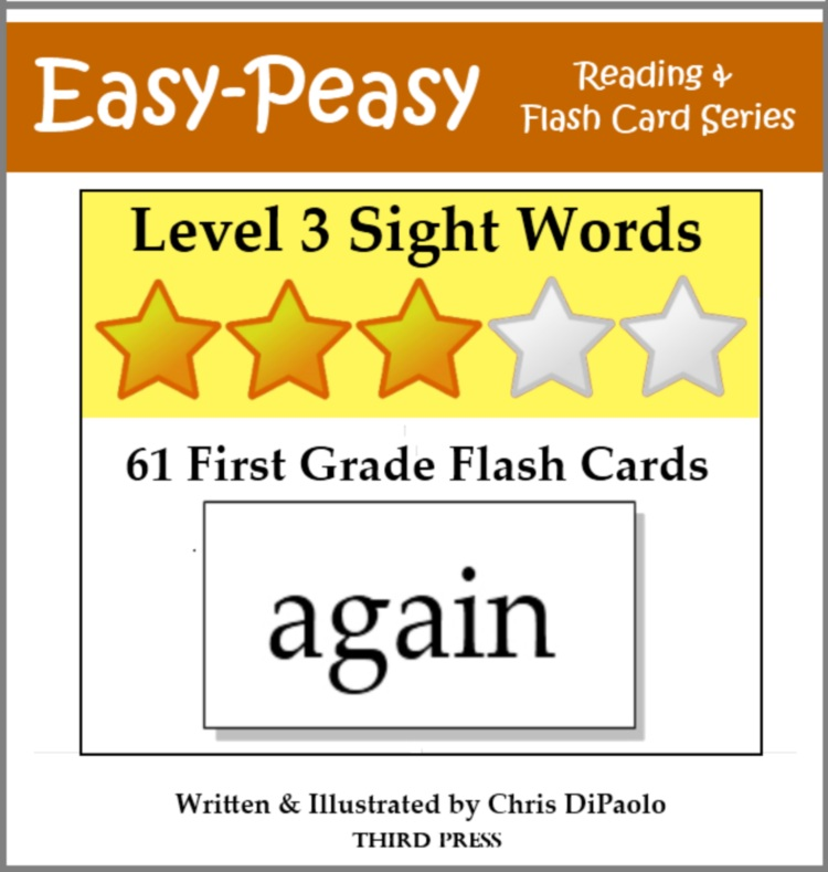 Level 3 Sight Words: 61 First Grade Flash Cards