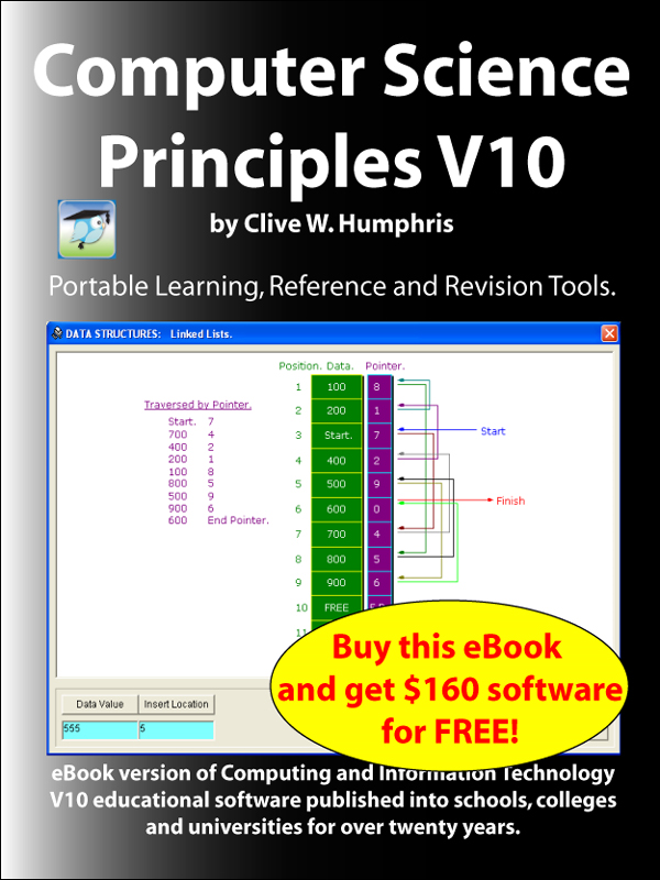 Computer Science Principles V10 By: Clive W. Humphris