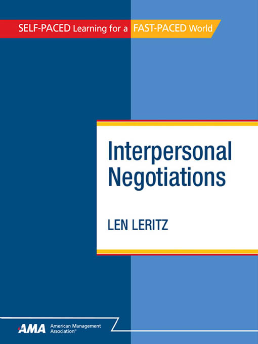 Interpersonal Negotiations: EBook Edition