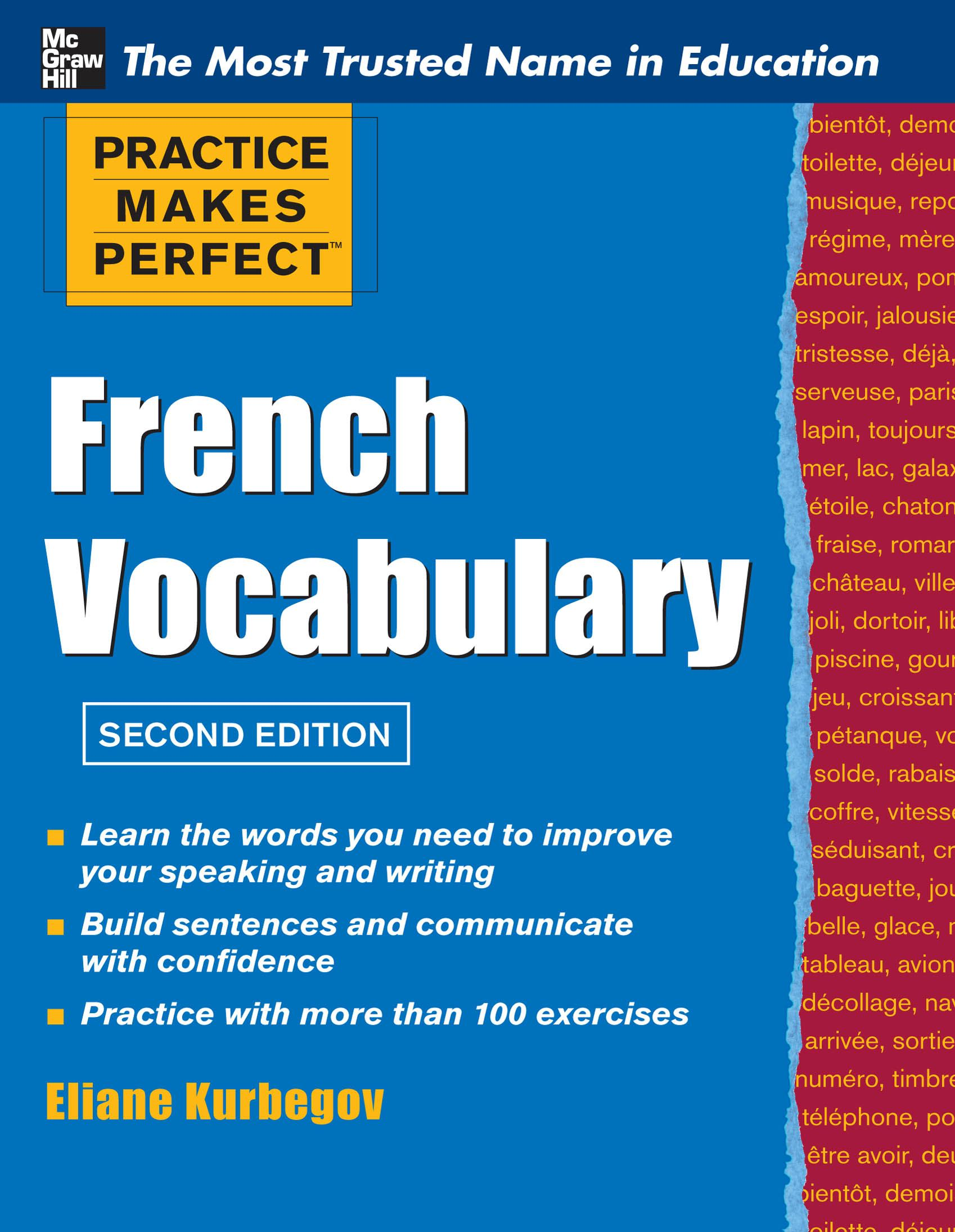 Practice Make Perfect French Vocabulary By: KURBEGOV
