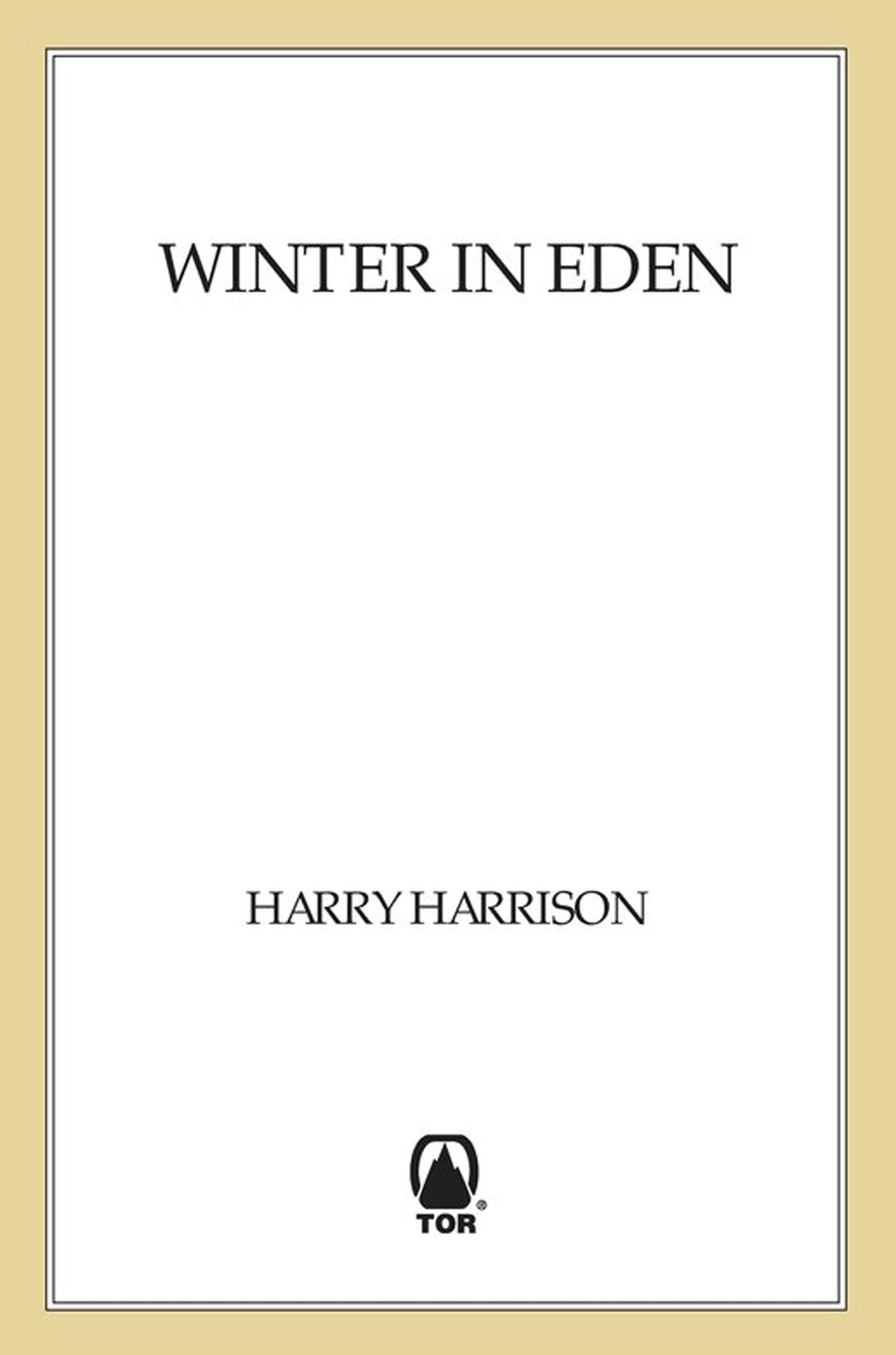 Winter in Eden By: Harry Harrison