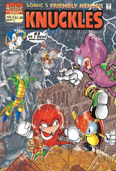 Sonic's Friendly Nemesis Knuckles #3 By: Mike Kanterovich, Ken Penders,  Art Mawhinney, Harvey Mercadoocasio, Mindy Eisman, Kyle Hunter