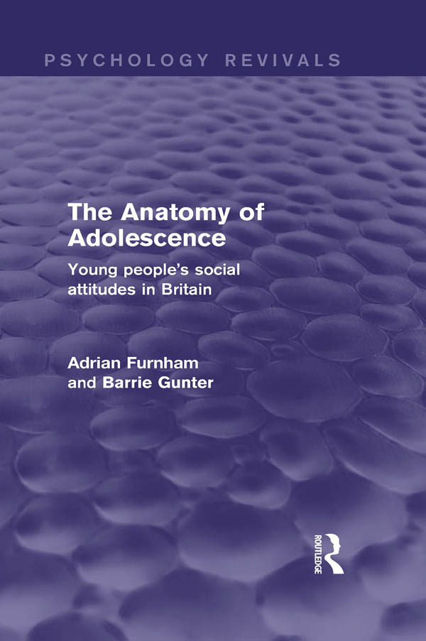 The Anatomy of Adolescence Young people's social attitudes in Britain