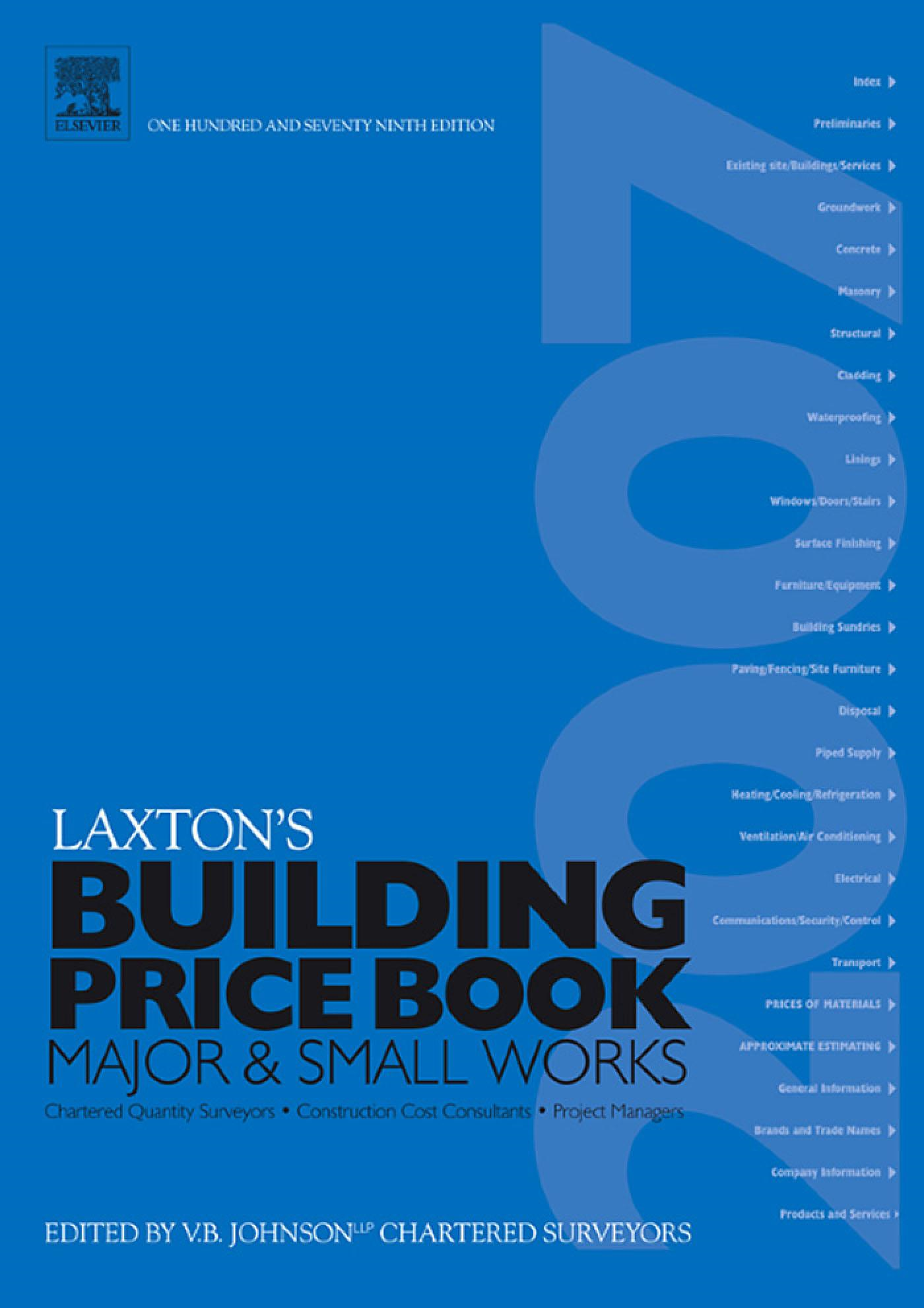 LAXTON'S BUILDING PRICE BOOK 2007