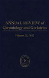 Annual Review Of Gerontology And Geriatrics, Volume 12
