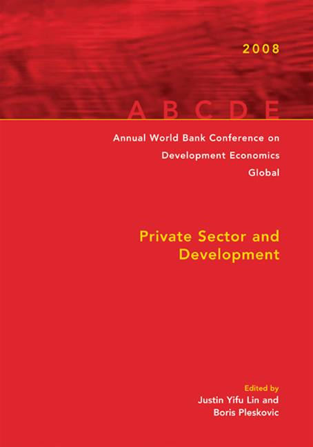 Annual World Bank Conference On Development Economics 2008, Global: Private Sector And Development