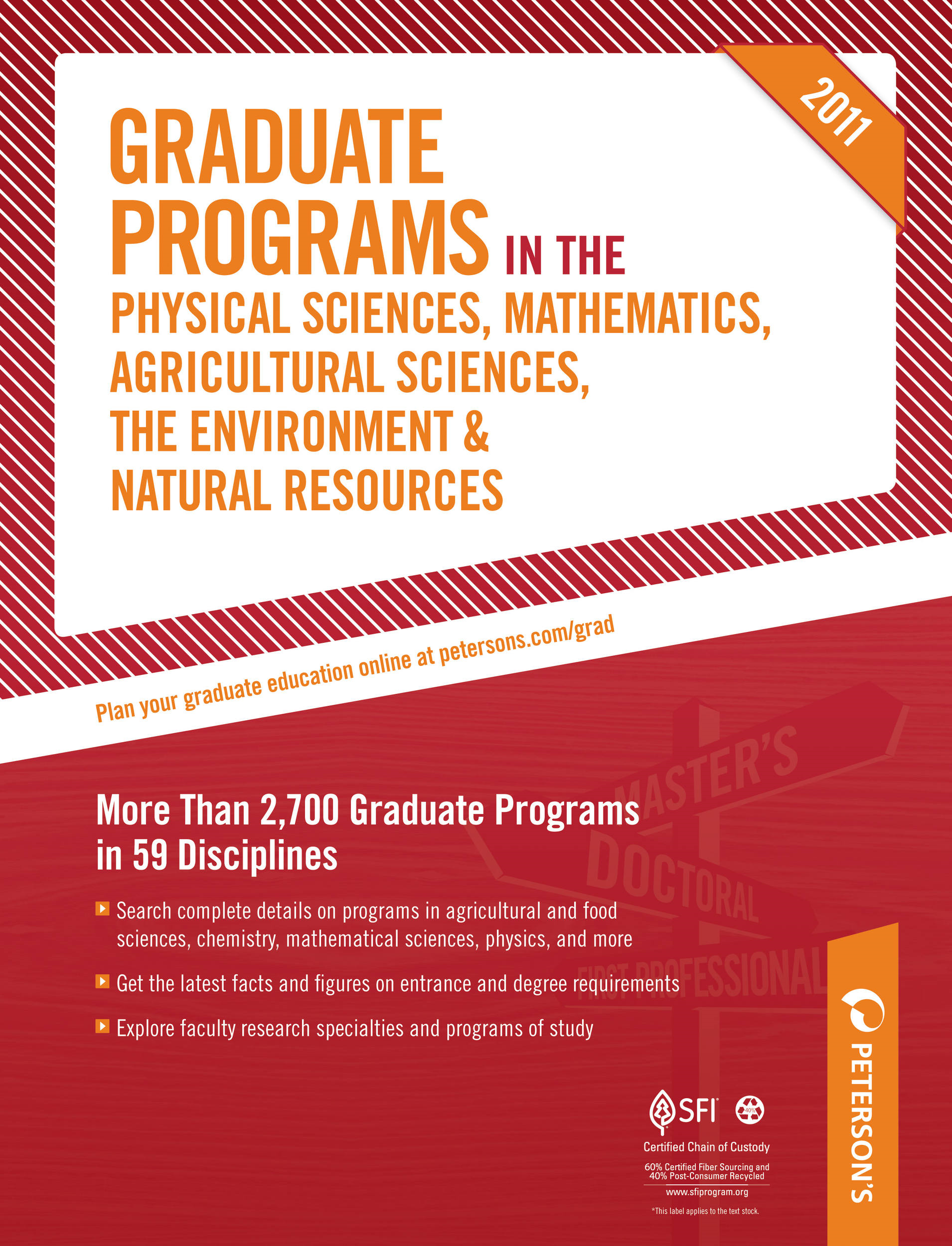 Peterson's Graduate Programs in the Physical Sciences 2011
