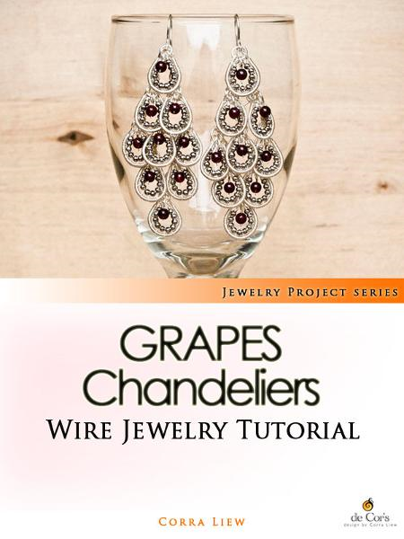 Wire Jewelry Tutorial: Grapes Chandelier Earrings