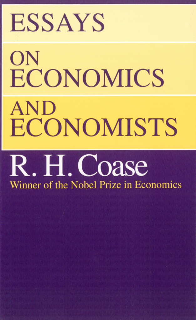 Essays on Economics and Economists