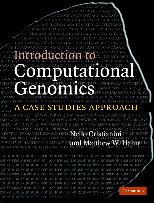 Introduction to Computational Genomics A Case Studies Approach