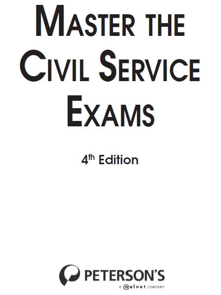 Master the Civil Service Exams By: Peterson's