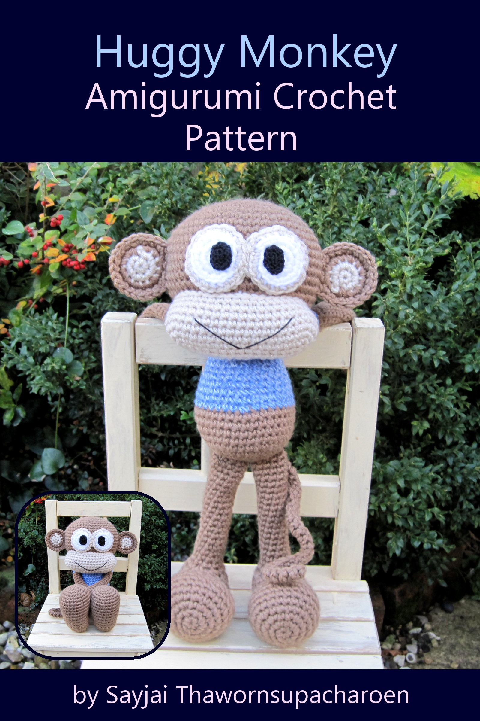 Huggy Monkey Amigurumi Crochet Pattern
