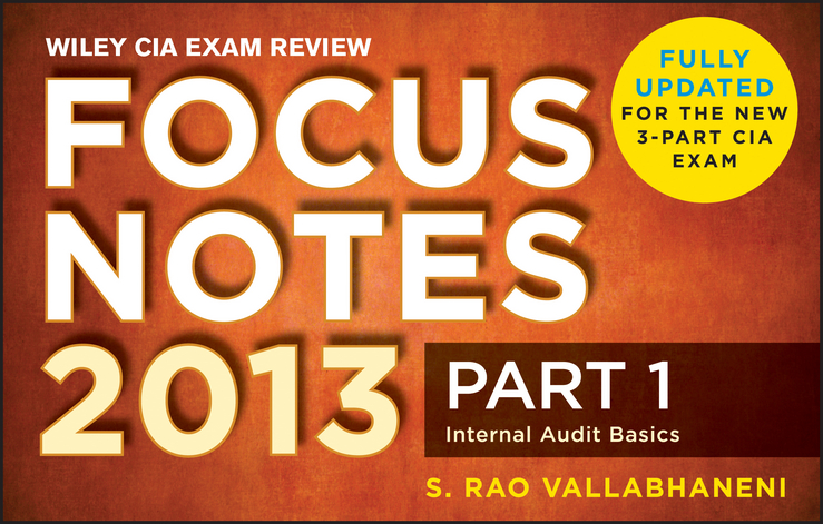 Wiley CIA Exam Review 2013 Focus Notes