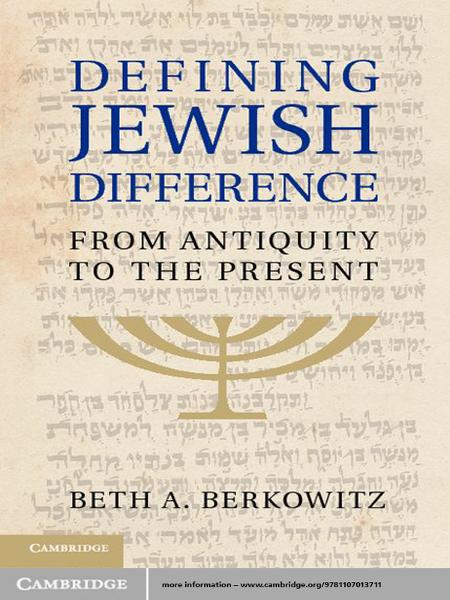 Defining Jewish Difference From Antiquity to the Present